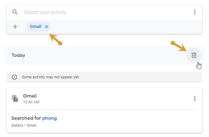 Cách xóa lịch sử tìm kiếm của Gmail - ảnh 2